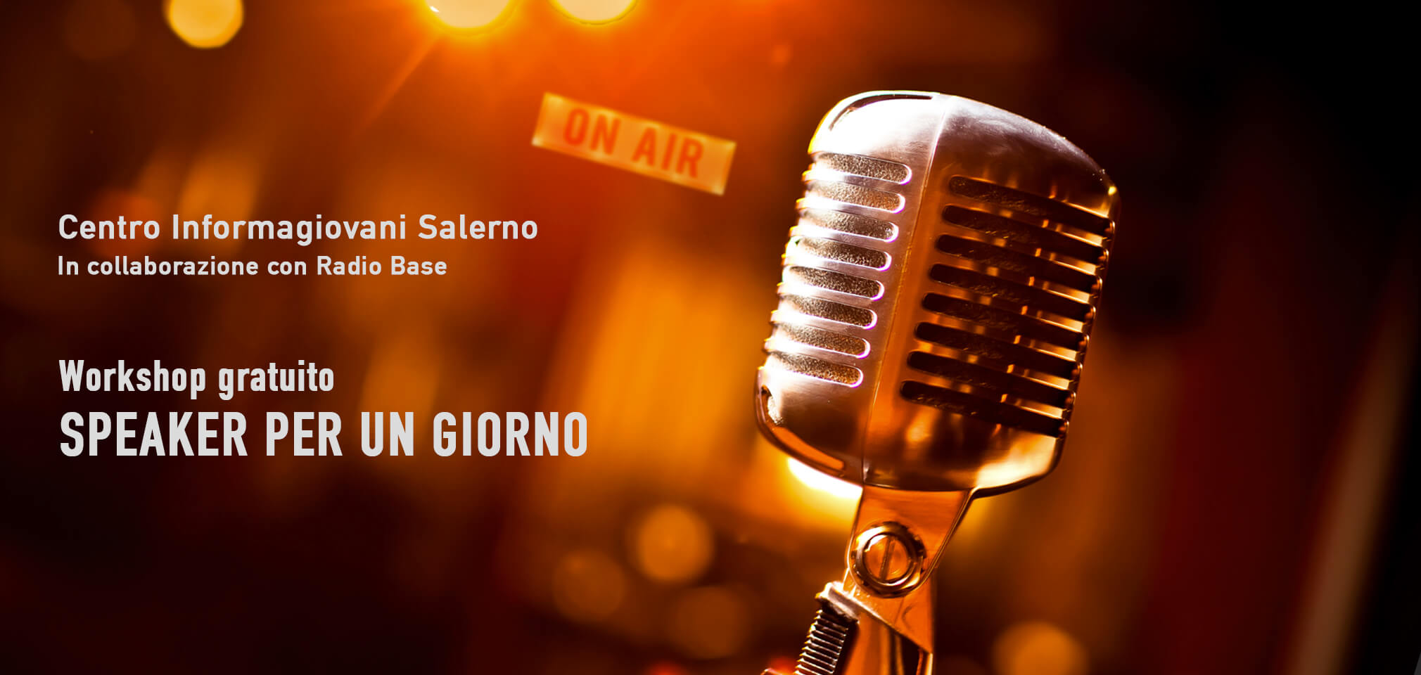 "Workshop gratuito ""Speaker per un giorno"""