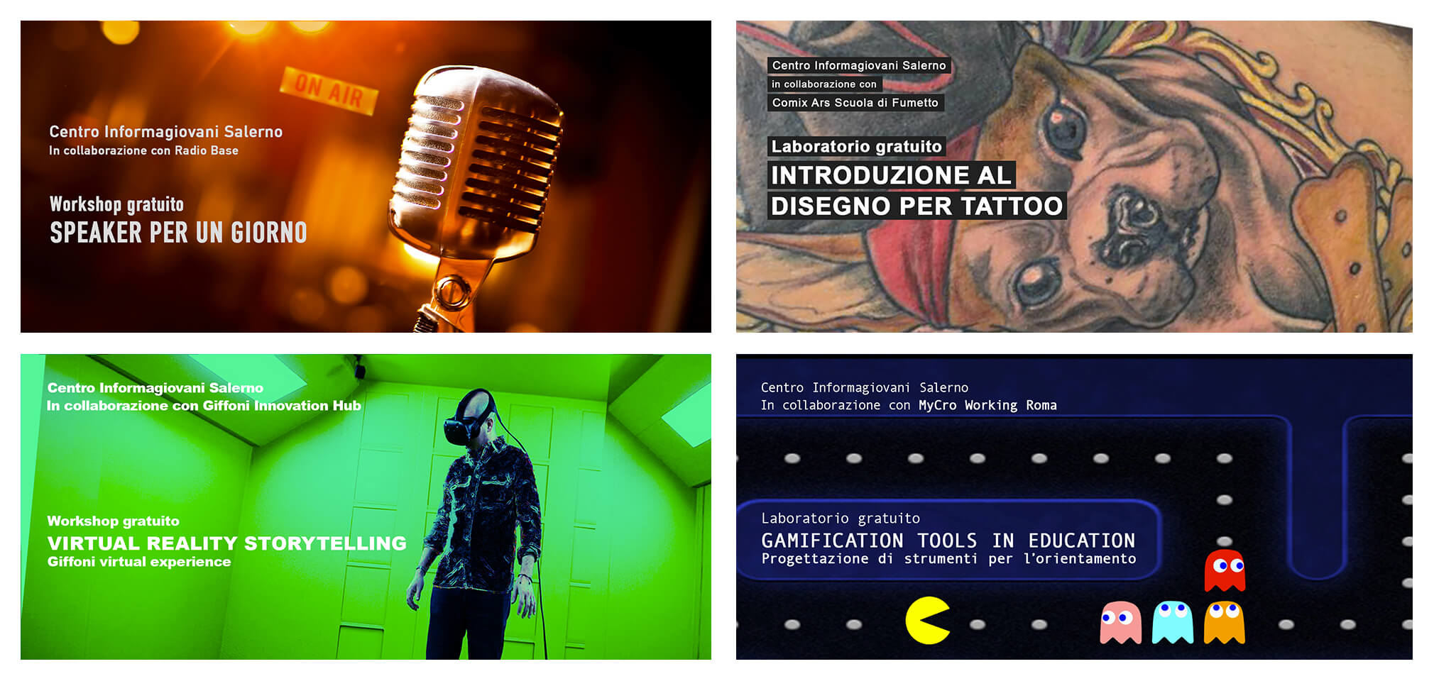 Workshop e Laboratori gratuiti